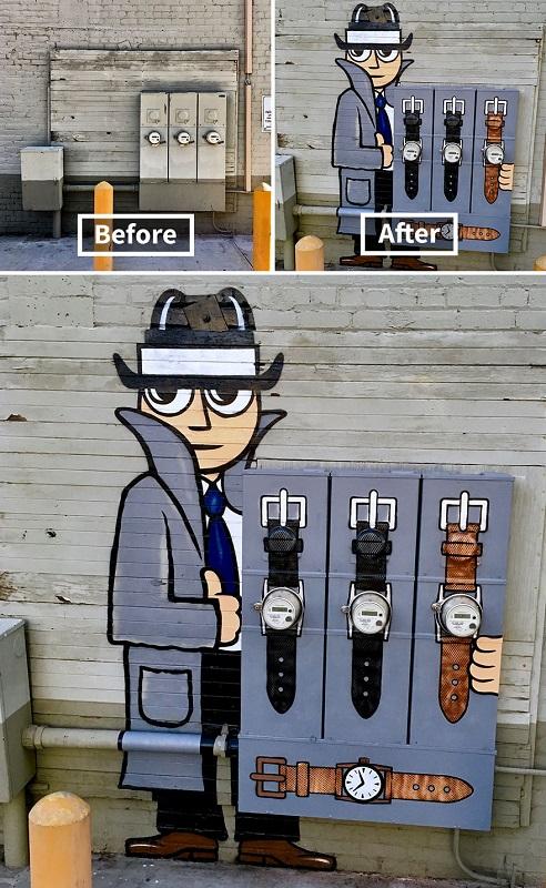 Artista de rua se dedica a mudar a chatice das cidades