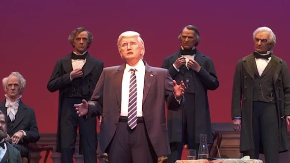 O Terror de Trump! Presidente ganha animatrônico na Disney