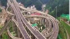 Conheça o viaduto chinês que mais parece uma montanha-russa