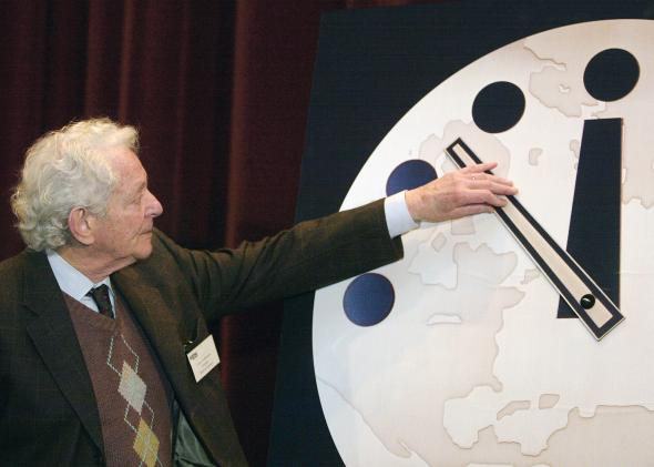 Relógio do Apocalipse foi adiantado 30 segundos