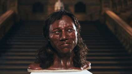 Este é o rosto de um morador da grã-bretanha de 10 mil anos