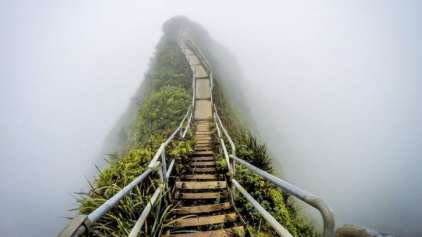 "A incrível e proibida ""Escada para o céu"" localizada no Havaí"