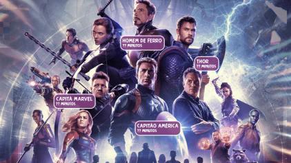 Quanto tempo cada herói apareceu em Vingadores: Ultimato