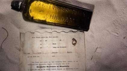 Mensagem em garrafa é descoberta após 130 anos