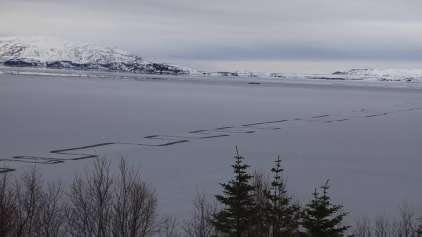 O que são essas linhas em zig-zag encontradas no gelo?