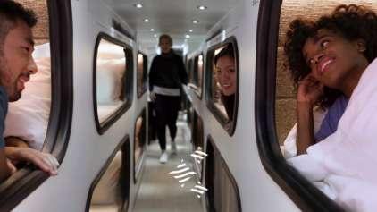 Conheça o ônibus hotel que quer competir com voos noturnos