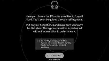 Site promete te hipnotizar para esquecer a sua série favorita