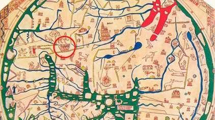 O mapa que revela a localização de acontecimentos bíblicos