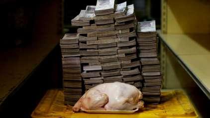 Imagens que mostram a dura realidade do dinheiro Venezuela