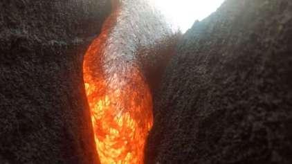 GoPro grava momento em que é consumida por lava