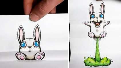 """Artista cria desenhos """"vivos"""" impressionantes"""