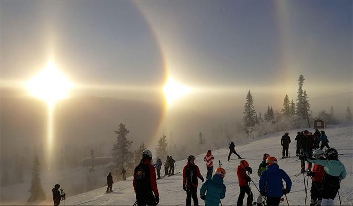 Raríssimo: Halo Solar é visto na Suécia