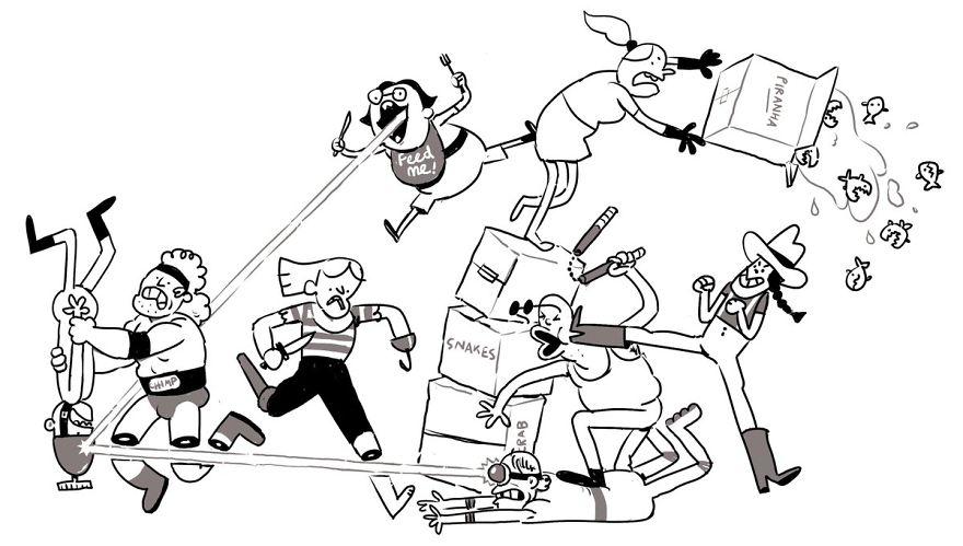 Artista coloca um personagem por dia em um desenho como desafio