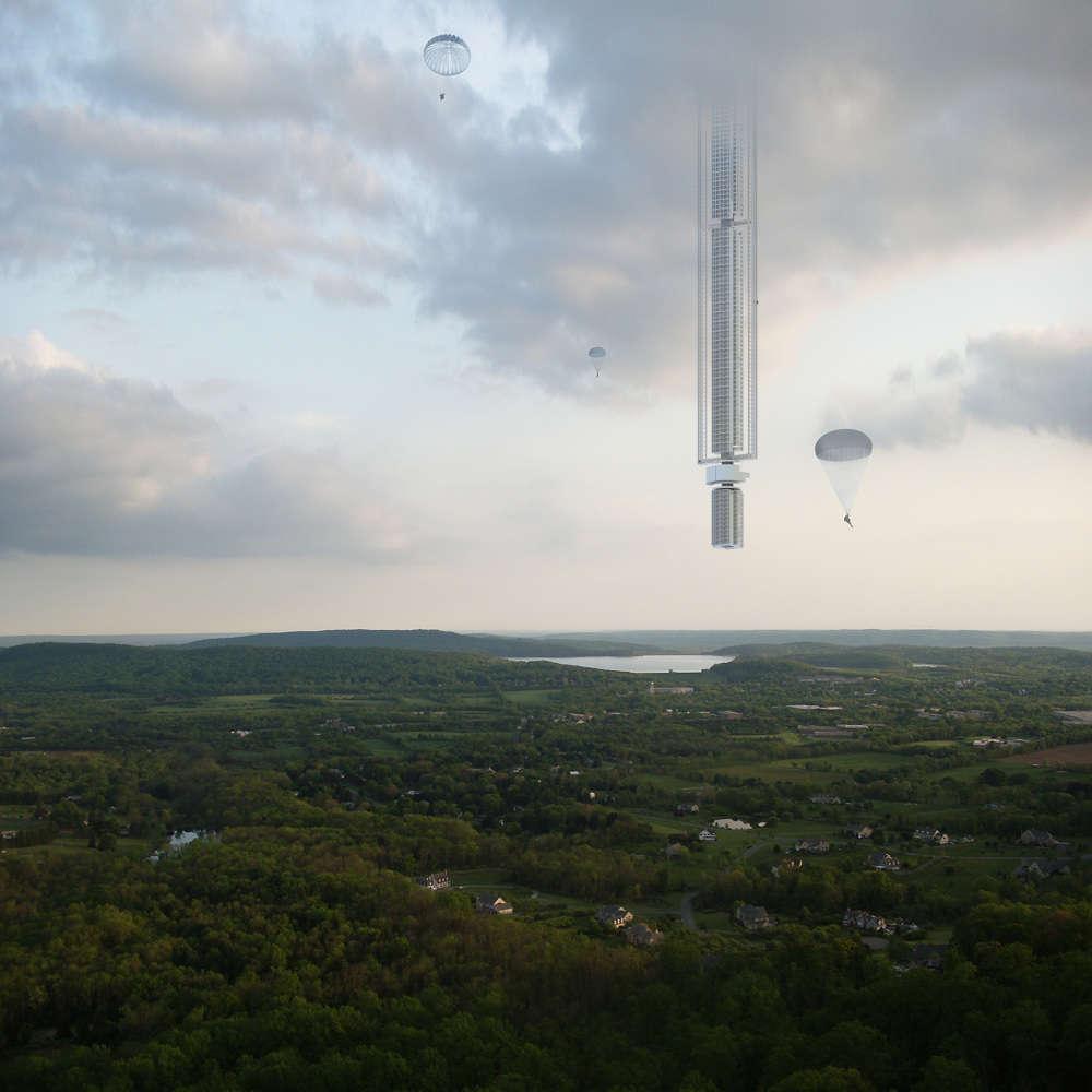 Empresa quer construir prédio suspenso em um asteroide