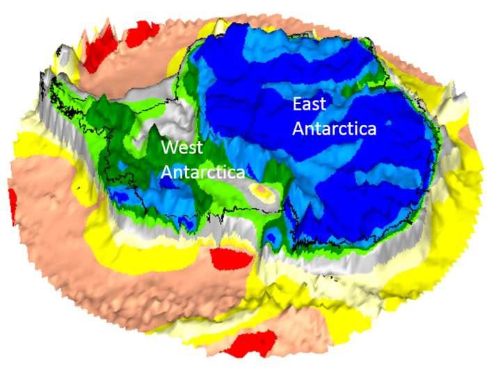 Satelite descobre continente perdido debaixo da Antártica