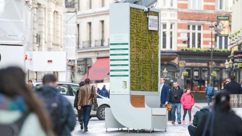 Banco de praça promete limpar o ar mais do que uma floresta