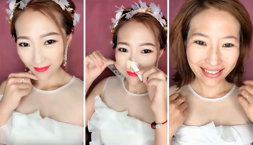 Como a maquiagem engana - 9 fotos com antes e depois incríveis