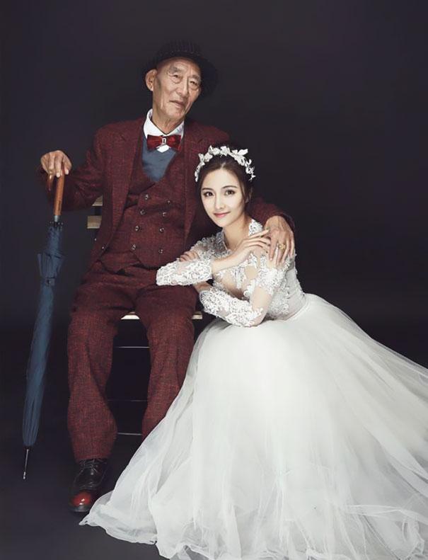 Jovem faz casamento para realizar o sonho de seu avô doente