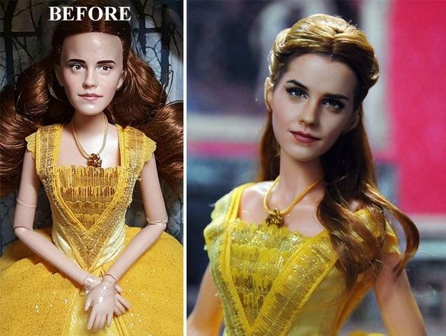 Conheça o artista que re-pinta bonecos para deixá-los mais reais