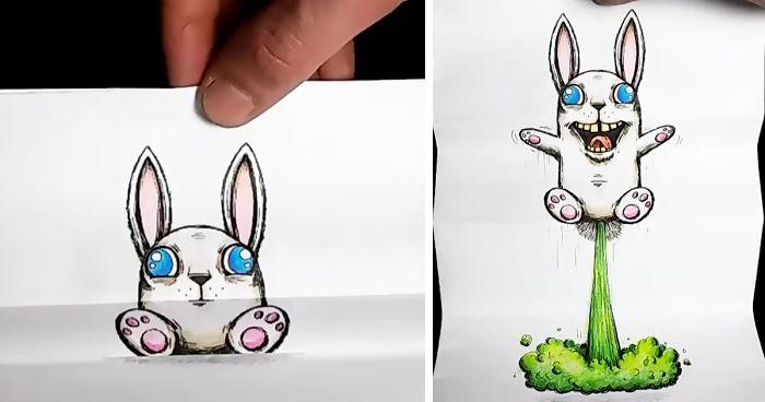 Artista cria desenhos